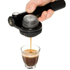 Tired of paying a coffee house for a quality cup of espresso, or cleaning and maintaining your own expensive machine at home? We've found an easier (and greener) way to get great espresso. The Handpresso Wild Hybrid is a hand-held espresso maker that requ Best Espresso Machine, Espresso Maker, Espresso Coffee, Coffee Maker, Coffee Machine, Coffee Blog, Coffee To Go, Best Coffee, Coffee Time