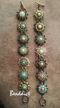 Pattern: Beaddict Center beads: amazonite stone beads You can download my pattern of this set free from here . E...