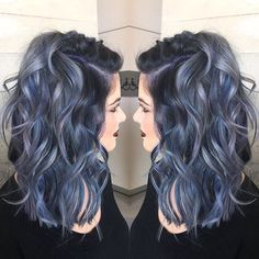 """6,364 Likes, 191 Comments - Pulp Riot Hair Color (@pulpriothair) on Instagram: """"Janai Hartt @harttofcolor used Pulp Riot colors, Nightfall, Lilac, Powder, and Clear for this…"""""""