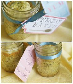 Desserts in Jars: Almond-Poppyseed Cakes