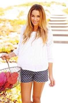 I absolutely love Lauren Conrad's style! These polka dot shorts are so me