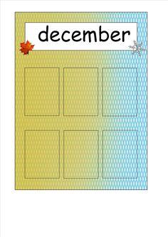 Maand-seizoens-verjaardagskalender.. In de vakjes kleef je de foto van de jarigen die maand :) gemaakt door Els Van Aelbrouck