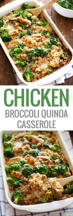 creamy chicken quinoa and broccoli casserole - D4Taste
