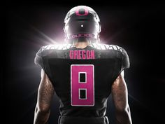 In observance of Breast Cancer Awareness Month, U of O's Ducks are sitting pretty in pink.  Retouched by Splash Worldwide.