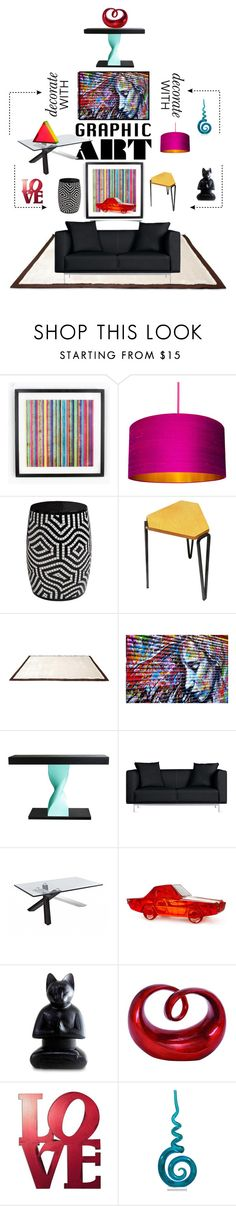 """Decorate With Graphic Art..."" by lovetodrinktea ❤ liked on Polyvore featuring interior, interiors, interior design, home, home decor, interior decorating, UGG Australia, Matthew Hilton, Jonathan Adler and NOVICA"