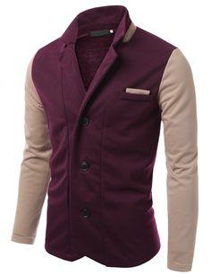 Doublju Men's neck point 3-button jacket #doublju