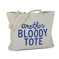 Another Bloody Tote Natural Blue