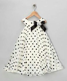 {Ivory Polka Dot Yoke Dress - Infant, Toddler & Girls by Gerson & Gerson} Little Girl Outfits, Little Girl Fashion, Little Girl Dresses, Kids Fashion, Toddler Dress, Toddler Outfits, Kids Outfits, Infant Toddler, Toddler Girls