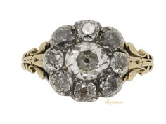 Georgian diamond cluster ring, circa 1830.