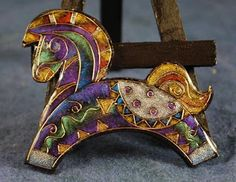 Eugena offers tutorials and writes Faux Cloisonne is by far my most favorite technique, because it allows the most variation in design.  The latest examples of what can be done with this technique were sent to me yesterday by Stephanie Michaud, and they are simply breathtaking. Stephanie is an equine artist, and her web site is (http://www.studiomichaud.net/)