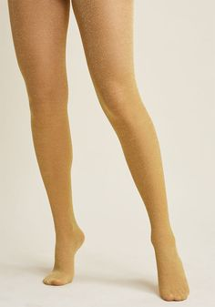 Glitter Done Tights in Gold