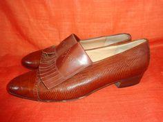 Vintage Pumps - Schuhe*Vintage*braun*Loafer*Leder*40* - ein Designerstück von…