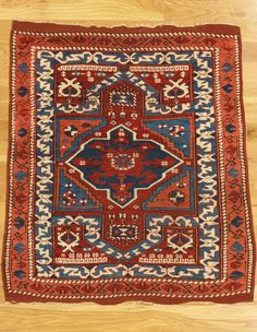 "Bergama double prayer rug,Western Anatolia,circa 1850.Measurements of the piece:3'.6""x3'.6"" (107x107 cm). 