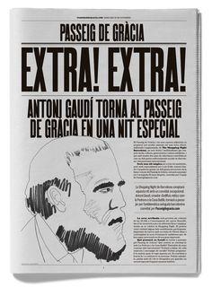 Bronce Laus 2012   Elemento de promoción    Título: EXTRA! EXTRA!    Autor: ESIETE    Cliente: Paseo de Gracia Comunicación
