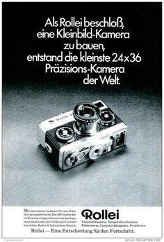 Original-Werbung/ Anzeige 1970 - ROLLEI KAMERA - ca. 180 x 240 mm