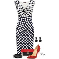 Printed Dress by derniers on Polyvore featuring polyvore, fashion, style, Phase Eight, Christian Louboutin and David Yurman