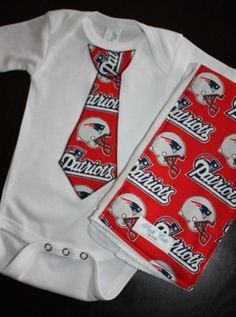 New England Patriots onesie and burp cloth by Born Platinum 199f13aa2