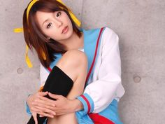 Haruhi cosplayed by her voice actress, Aya Hirano by Zeo-de-dralion.deviantart.com #cosplay