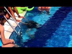 Probetauchen am Pool - YouTube