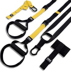 TRX Equipment Straps No gym? Create full-body workouts from anywhere with a TRX suspension system. Get that workout in from home. Suspension Training, Suspension Workout, Trx Suspension Trainer, Trx Training, Strength Training Equipment, Home Workout Equipment, Fitness Equipment, Exercise Equipment, Fitness Sport