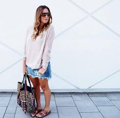 Dream It Do It, Distressed Denim, Denim Skirt, That Look, Cute Outfits, Shop My, Treasure Chest, Skirts, Sweaters