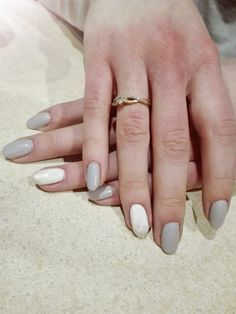 #nails #grey #white #silver #mywork