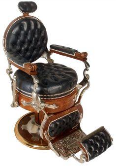 http://www.icollector.com/Vintage-Koken-Oak-Black-Leather-Barber-Chair_i13823865 Vintage Koken Oak & Black Leather Barber Chair, very nicely restored