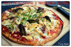 Tasty Health: Nyttig pizza på glutenfri & proteinrik botten! kikärtsmjöl och kokosmjöl