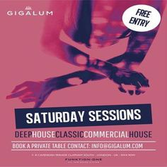 Saturday Sessions at Gigalum, 7/8 Cavendish Parade, London, SW4 9DW, UK on Jul 25, 2015   at 6:00pm to 1:00am. Gigalum residents Hilton Caswell and Ben Yong are joined by a tour-de-force of master DJ's playing the finest deep, funky, tech and classic house to entice you to the dance floor for evening of sheer musical nirvana.  URL: Facebook: http://atnd.it/30570-1 Twitter: http://atnd.it/30570-2  Category: Nightlife, Price: Free, Artists: Hilton Caswell, Ben Yong.