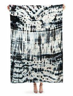 raw silk sarong in midnight - upstate