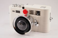 Made from Legos!  Leica M8 - white edition by Mr.Attacki, via Flickr