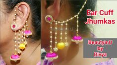 DIY | 2 in 1 Jhumkas | Earcuff Jhumkas making at Home | Silk Thread Earr...