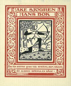[Ex libris Åke Sjögren] | by Stifts- och landsbiblioteket i Skara