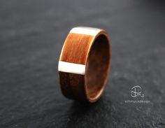 Holzringe - Holzring Bentwood Ring Nussbaum Makoré Unisex - ein Designerstück…