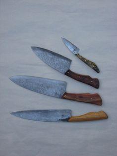 Chris Stanko hand-forged knives via http://westcoastbladecraft.com/    Photo by Delphine Lippens