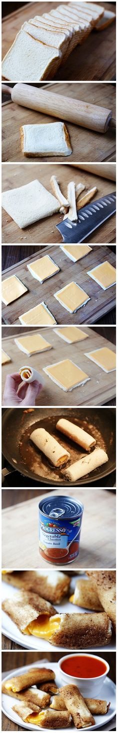 grilled cheese rolls//fantastic idea