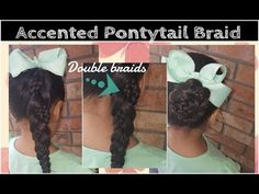 Double accented pontytail braid - YouTube