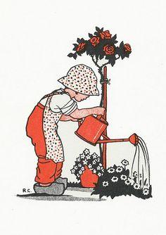 Rie Cramer Het jaar rond editie 1978, ill tuinman