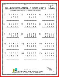 math worksheet : division facts and worksheets on pinterest : Column Subtraction Worksheets Ks2