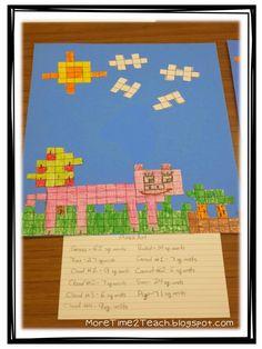 More Time 2 Teach: Area & Perimeter: A Hands on Approach Second Grade Math, 4th Grade Math, Sixth Grade, Grade 1, Math Resources, Math Activities, Division, Maths Area, Eureka Math