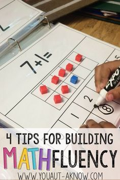 Building Math Fluency in the Special Education classroom is easy with these 4 tips. Check out how I build Math Fluency in my Autism Classroom! classroom 4 Tips for Building Math Fluency - You Aut-A Know Preschool Math, Kindergarten Math, Fun Math, Teaching Math, Elementary Math, Teaching Ideas, Easy Math, Math Skills, Math Lessons