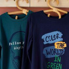 Textiles, Organic Cotton T Shirts, Organic Farming, Coton Bio, Sweatshirts, Long Sleeve, Minimal, Crew Neck, Health