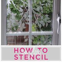How-TO-Project-Stenciling-on-Glass-Surface  OMG, totally want to do this on her bathroom mirror