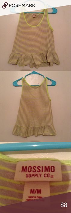 Striped Ruffle Tank Bright and flirty tank top. Mossimo Supply Co Tops Tank Tops