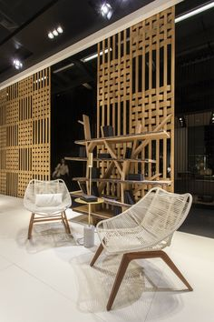Roche Bobois at the IMM Cologne fair   Wishbone outdoor lounge chair designed by Antoine Fritsch & Vivien Durisotti and a special 10th anniversary edition of the Legend Bookcase designed by Christophe Delcourt   January 2017