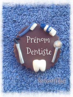 Badge dentiste assistante dentaire infirmière tous métiers en fimo