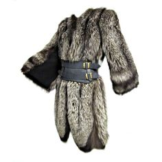 Luxurious 40s Silver-Tipped Fox Fur Coat with Scalloped Hem | From a collection of rare vintage coats and outerwear at https://www.1stdibs.com/fashion/clothing/coats-outerwear/