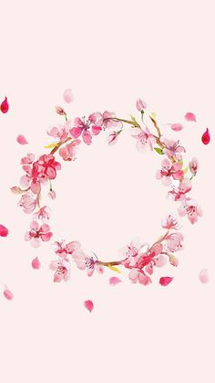 How amazing on a pink background! Flower Frame, Flower Crown, Screen Wallpaper, Iphone Wallpaper, Watercolor Flowers, Watercolor Art, Floral Watercolor Background, Watercolor Wallpaper, Drawing Flowers