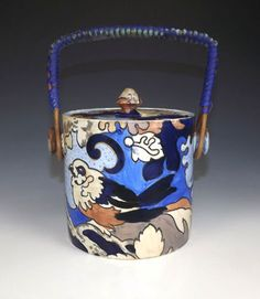 """Frederick Rhead 'Amstel' Pattern Biscuit Barrel 