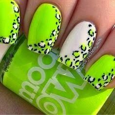trendy Lime Green Nail Designs 2015